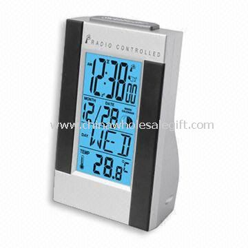 LCD Radio Controlled Clock with Weather Forecast Function and Calendar