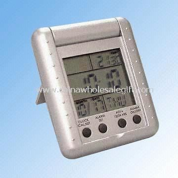 LCD Travel Alarm Clock with Calendar and Temperature Display