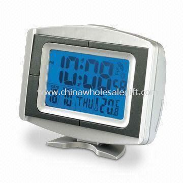 Radio-controlled Clock with Thermometer and LCD Backlight