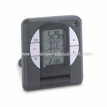 Radio-controlled LCD Travel Alarm Clock