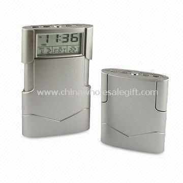 Travel Alarm Clock with LCD Display Date Temperature and Snooze Functions