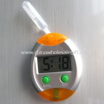 Water power LCD clock with fridge magnet