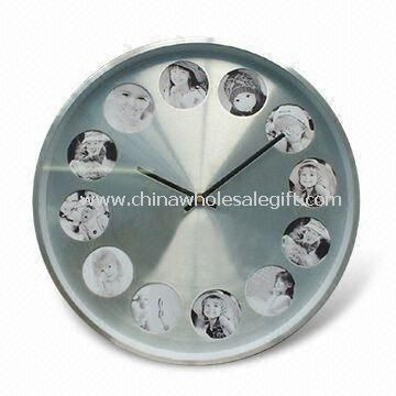 Aluminum Photo Frame Wall Clock