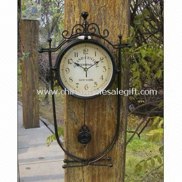 Double-sided Wall Clock Suitable for Home Decoration and Garden Use