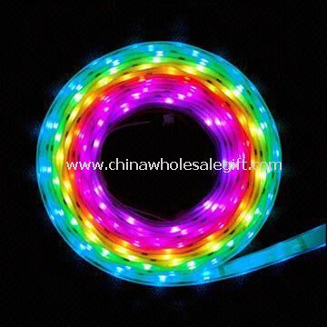 Flexible RGB LED Strip Light with 800 to 1,000mA Working Current and 5W Power Consumption
