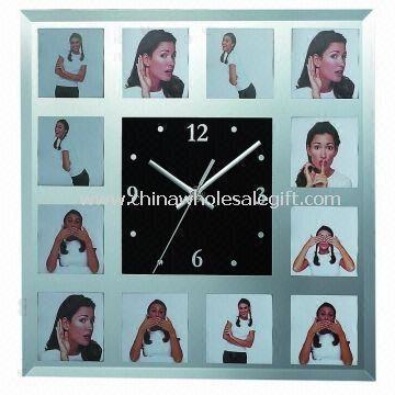 Glass Photo Wall Clock