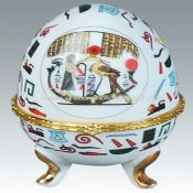 egg shape porcelain jewelry box images