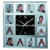Glass Photo Wall Clock images