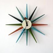 Modern Sunburst Clock images