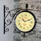 Multifunction Double-sided Waterproof Wall Clock for Garden Use images