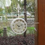 Waterproof and Multifunctional Double-sided Garden Wall Clock with Thermometer images