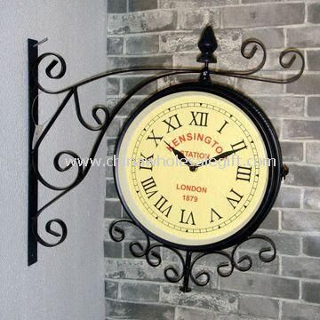 Multifunction Double-sided Waterproof Wall Clock for Garden Use