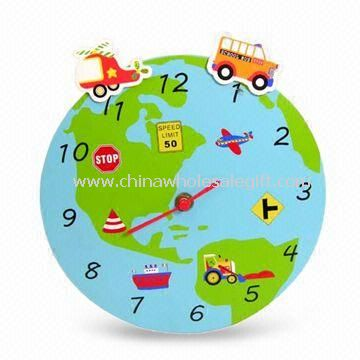 Wall Clock for Children Made of MDF Material