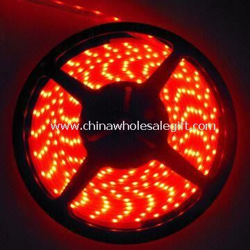 Waterproof Silicone Tube Flexible LED Strip Light with Emitting Color of Red and 12V DC Voltage