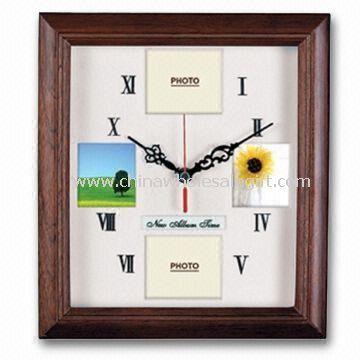 Wood Photo Frame Wall Clock
