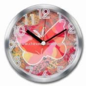 Aluminum Wall Clock with Silkscreen Design on Glass Lens images
