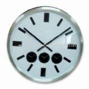 Aluminum Wall Clock with Three Time Zones images