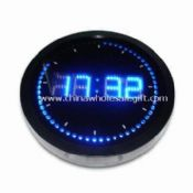 Roll Round LED Wall Clock with Aluminum Frame images