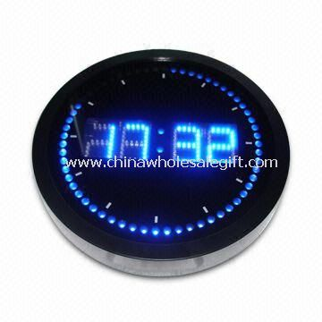 Roll Round LED Wall Clock with Aluminum Frame