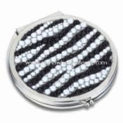 Metal Cosmetic Mirror with Diamond images