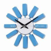 10.5-inch Wooden Wall Clock with Bright Color and Lovely Design images