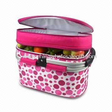 Cooler Basket with Foldable Carrying Handle