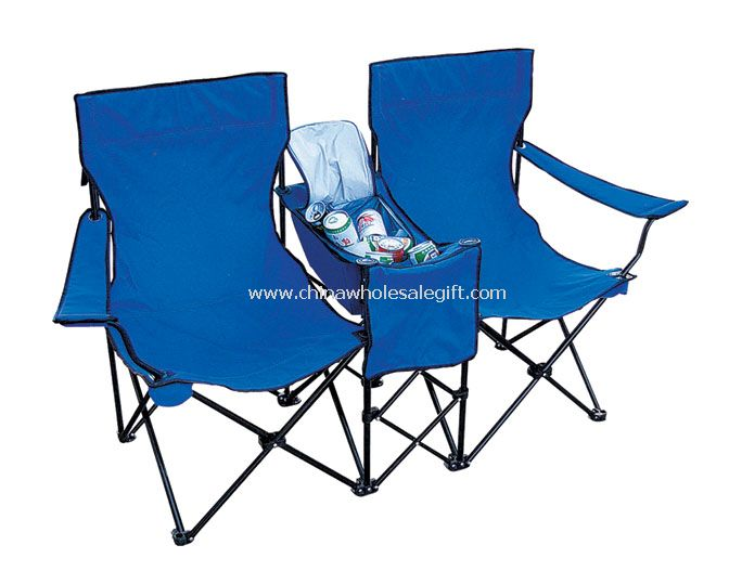 Double Beach Chair with Cooler Bag