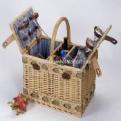 Willow Picnic Basket with Cooler Bag images