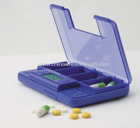 Large four compartments Pill Box Timer