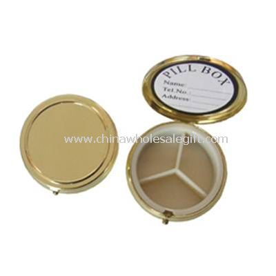 metal case and plastic inner Pill Box