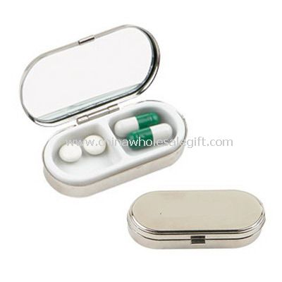 Metal Pill Box with Mirror