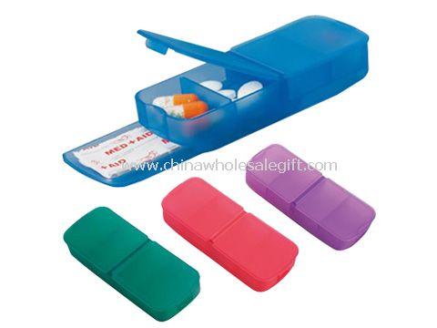 Plastic pill container