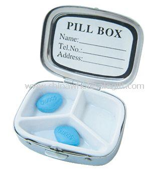 Stainless Iron plastic Pill Box