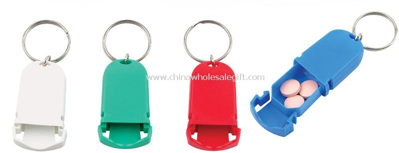 Pill Case Key Chain