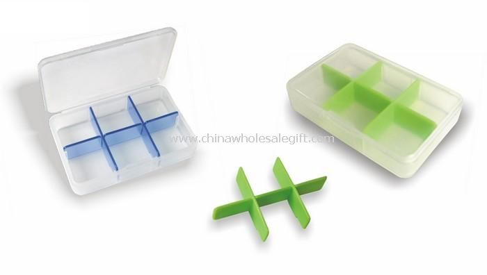 7 compartments inside for weekly pill box
