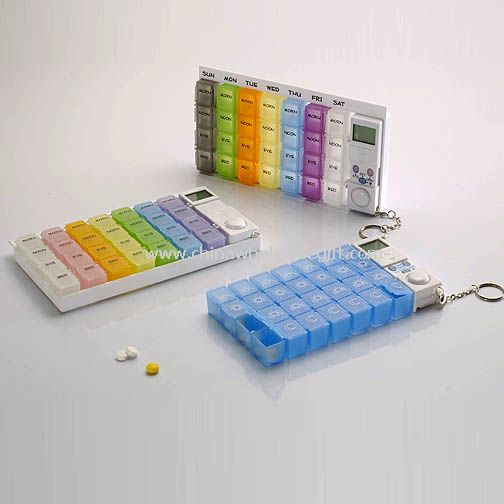 Hand-Pill Organizer with Digital Timer