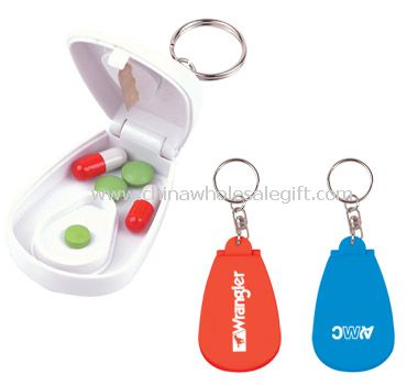 Pill Key Chain with Cutter