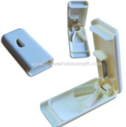 plastic pill box and pill cutter