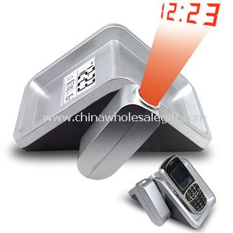 Digital LCD Projection Clock With Mobile Holder