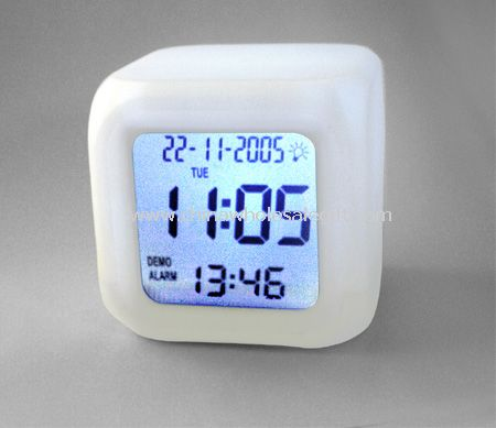 Lcd Alarm Clock With Led Color Changing