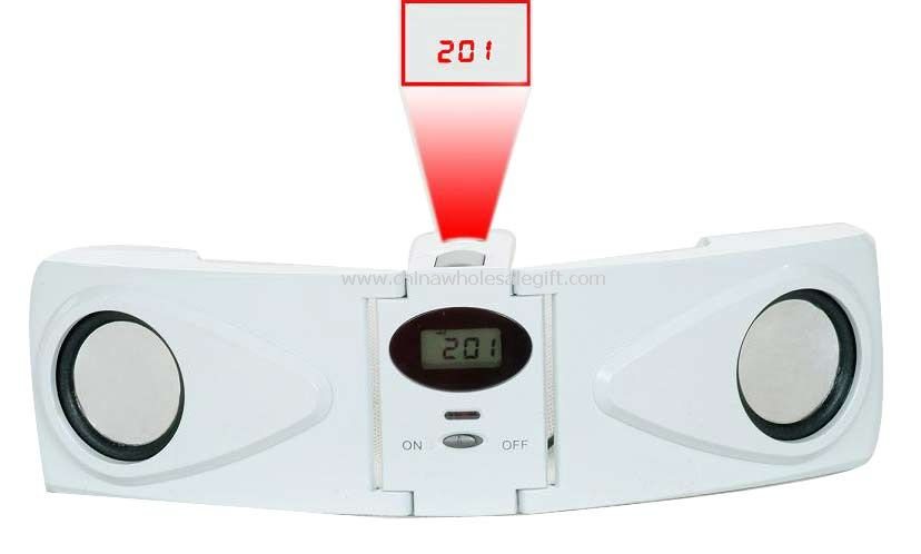 LCD Projection Clock with MP3 Amplifier