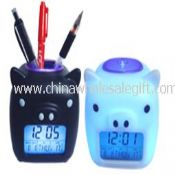 PIG-LCD DIGITAL ALARM Color Changing Clock images