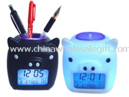 PIG-LCD DIGITAL ALARM Color Changing Clock