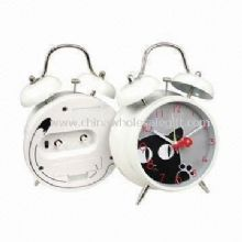 Twin Bell Alarm Clocks Silkscreen Design on the Glass Lens and Back Case images