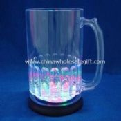 800mL LED plastic big glow beer mug images