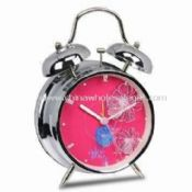 Battery-operated Twin Bell Alarm Clock with 1 x AA Battery images