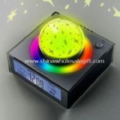Desktop Clock with Rotating Projection Stars Globe and Alarm Clock images