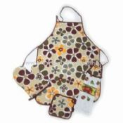 Kitchen Cooking Apron Set Made of 100% Cotton or Canvas images