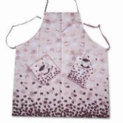 Kitchen Wear Set Including Apron Pot Holder Oven Mitt images