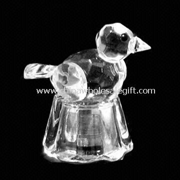 Crystal lintu Crystal pohja ja LED-valo sisällä
